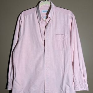 Brooks Brothers 100% cotton pale pink shirt